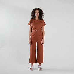 NATIVE YOUTH Hnedý overal – Maria Jumpsuit – XS